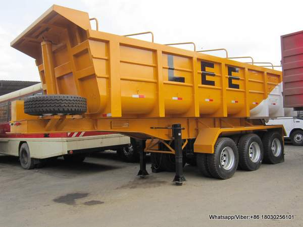3 axles tipper semi-trailer