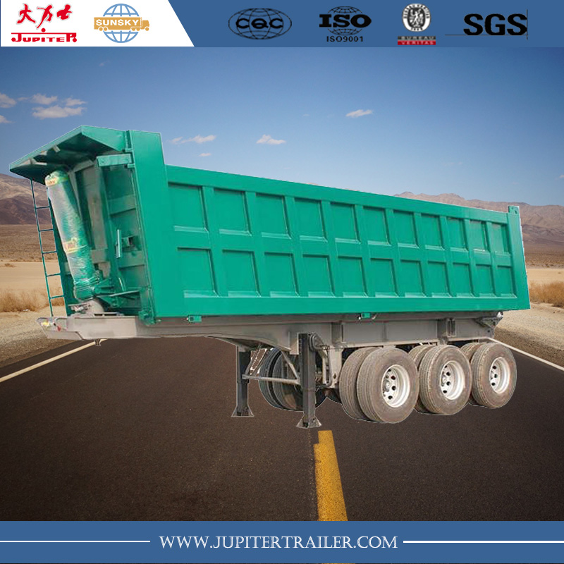 3-axle square tipper semi-trailer