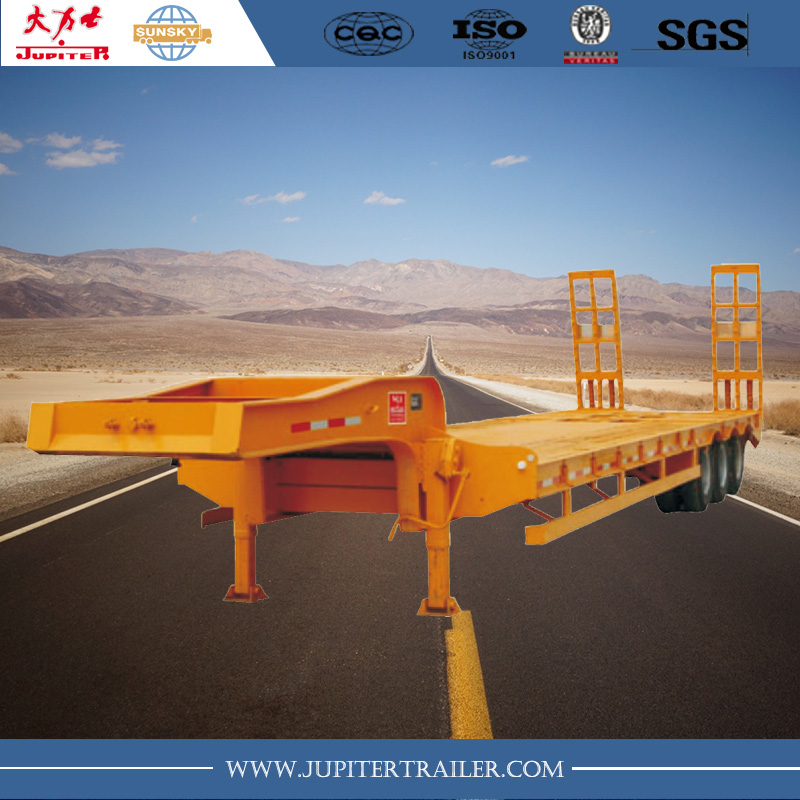 3 axle low bed trailer