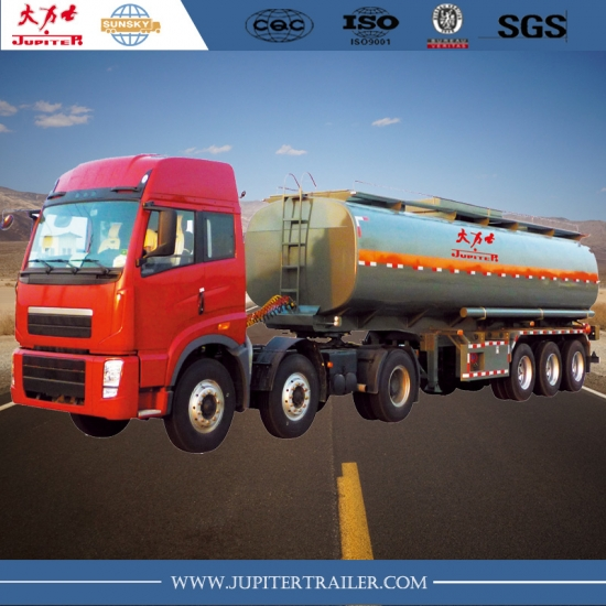 45,000L carbon steel fuel tanker semi-trailer made in china
