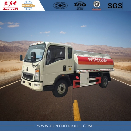 HOWO 5000 liters fuel tank truck tractor