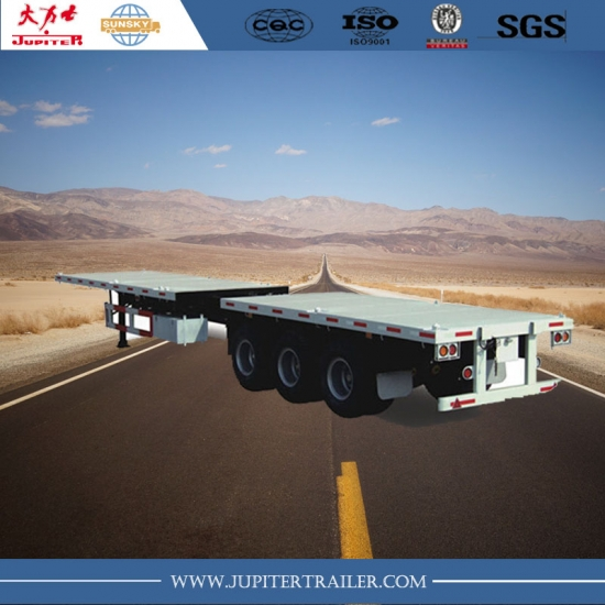 45ft 3 axle extendable Flatbed semi trailer