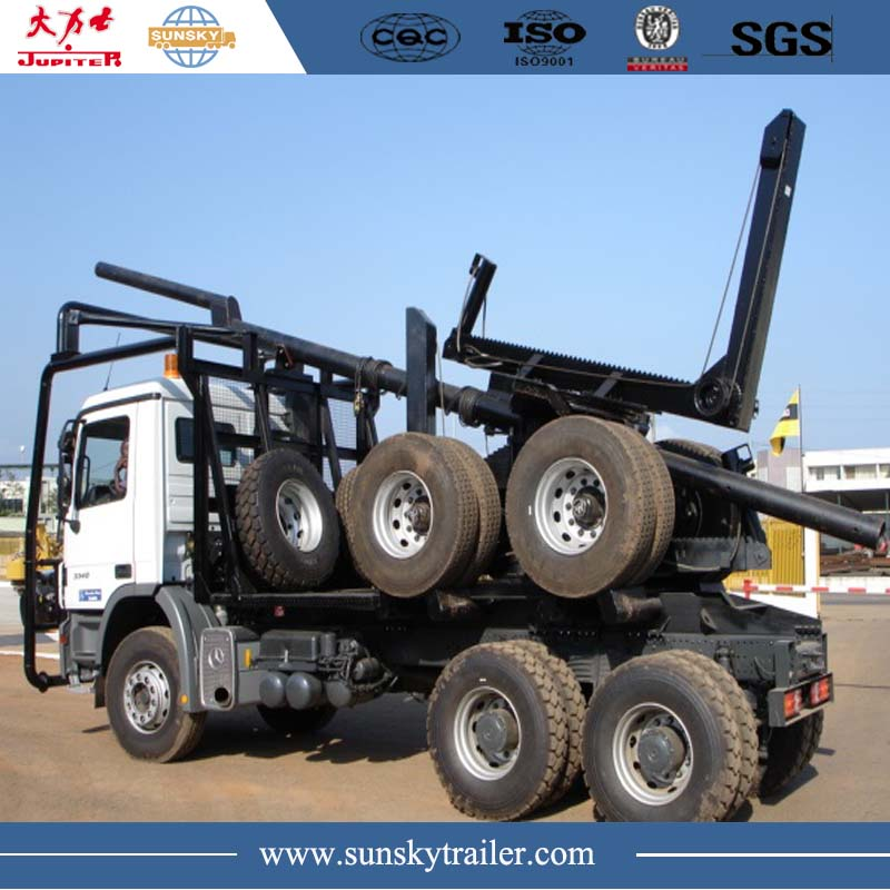 Mercedes log trailer truck for sale in china