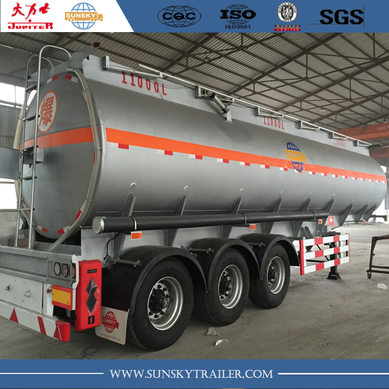 33 cbm Carbon Steel Oil Tanker Trailer