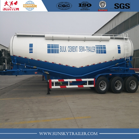 bulk cement semi-trailer