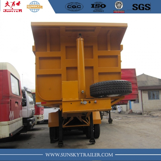 27m³ u shape tipper trailer with 3 axles for kenya transportation