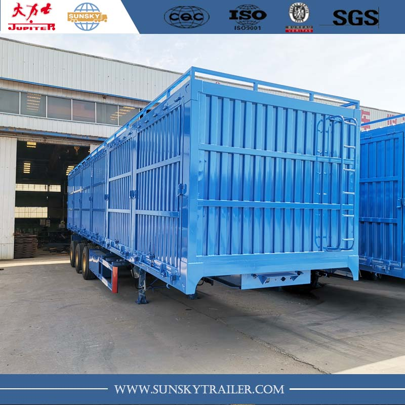 Grain transport box trailer